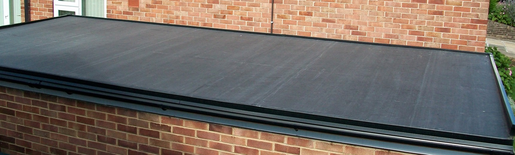 Rubber roof covering